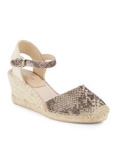 Botkier New York Elia Leather Espadrille Wedge Sandals