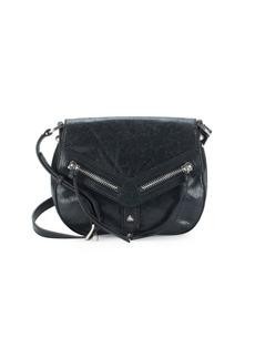 Botkier New York Trigger Leather Crossbody Saddle Bag