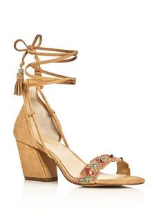 Botkier Penelope Embellished Ankle Tie Block Heel Sandals