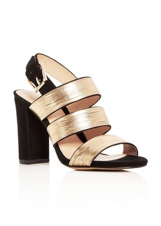 Botkier Women's Genesa Chain Embellished Suede High Block Heel Sandals