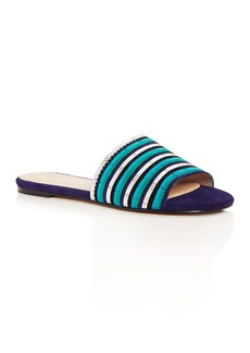 Botkier Women's Marley Suede Stripe Slide Sandals