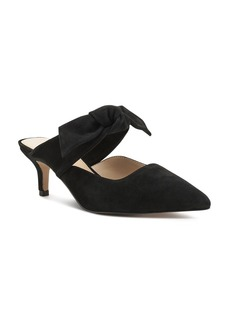 Botkier Women's Pina Bow-Accented Suede Kitten Heel Mules