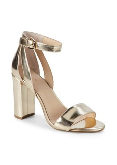 Botkier Gianna Metallic Leather Heeled Sandals