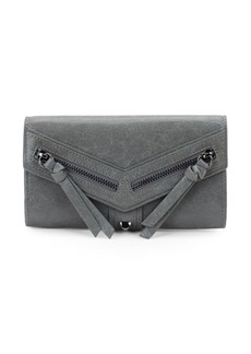 Botkier Trigger Flap Leather Continental Wallet