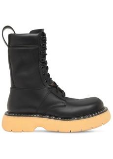 Bottega Veneta 35mm Brushed Leather Combat Boots