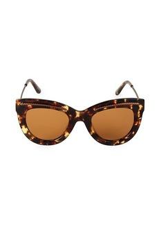 Bottega Veneta 49MM Etched Detail Cat Eye Sunglasses