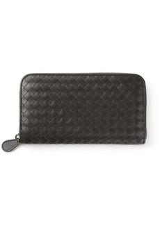 Bottega Veneta ardoise Intrecciato zip-around wallet