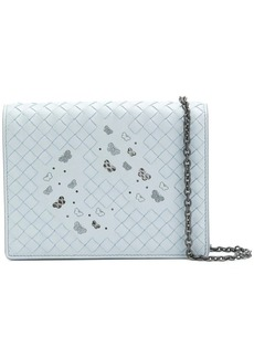 Bottega Veneta artic Intrecciato nappa ayers chain wallet