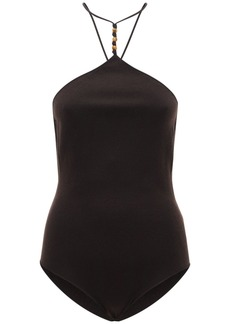 Bottega Veneta Back Knots Cashmere Knit Bodysuit