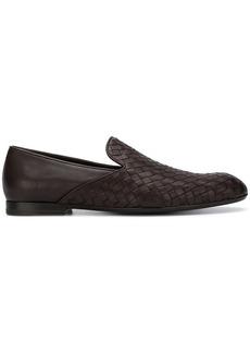Bottega Veneta basket weave loafers