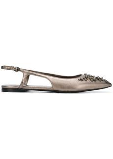 Bottega Veneta bead embroidered slippers