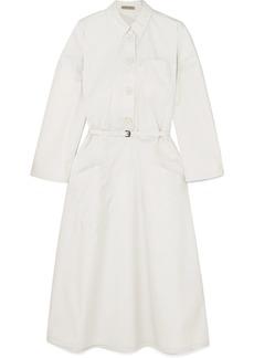 Bottega Veneta Belted Cotton-blend Poplin Midi Dress