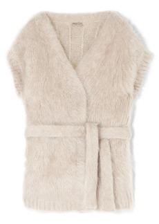 Bottega Veneta Belted Mohair-blend Cardigan