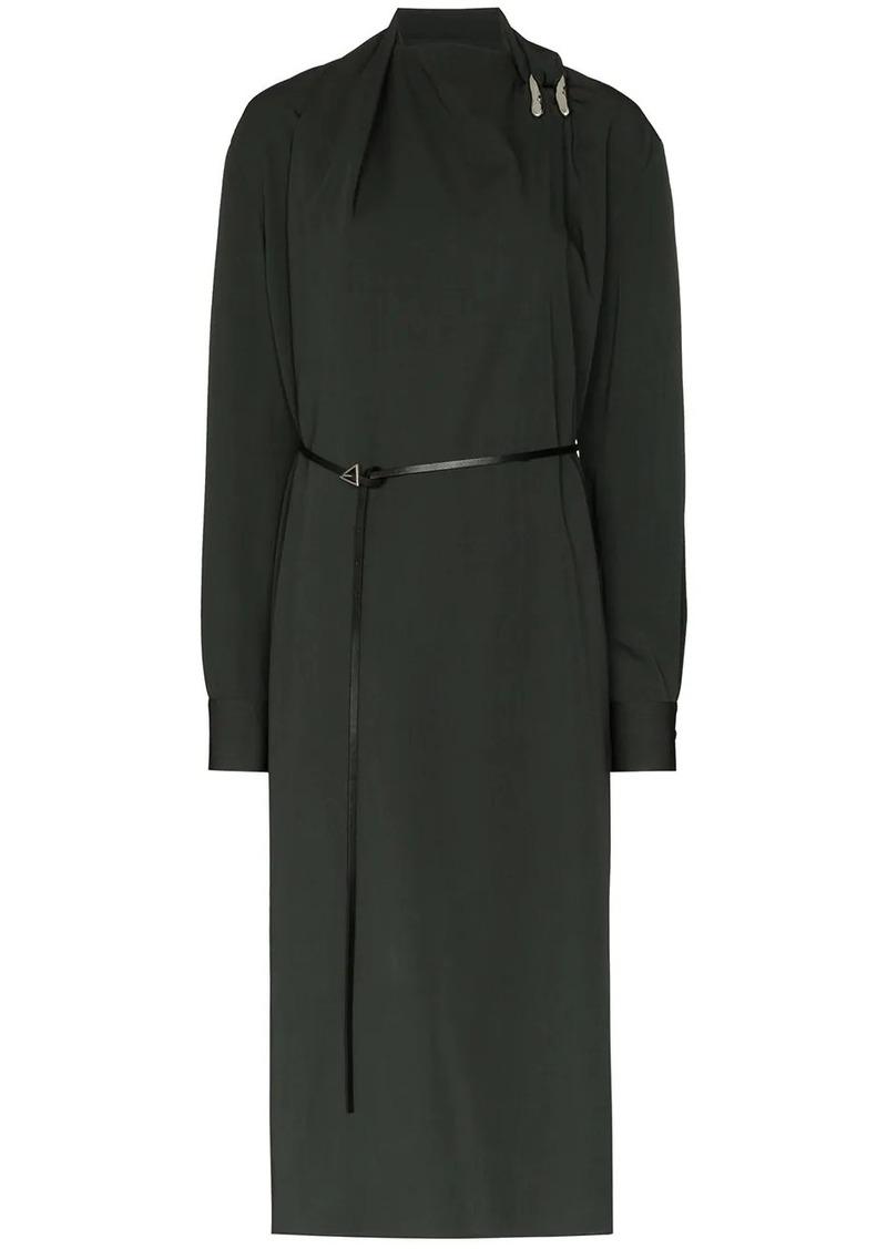 Bottega Veneta belted shift midi dress