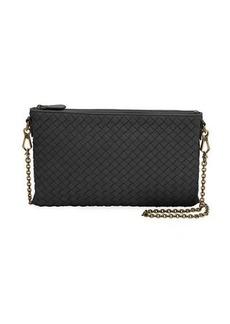 Bottega Veneta Biletto Woven Leather Zip-Top Pouch Crossbody Bag