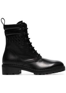 Bottega Veneta black eldfell leather boots