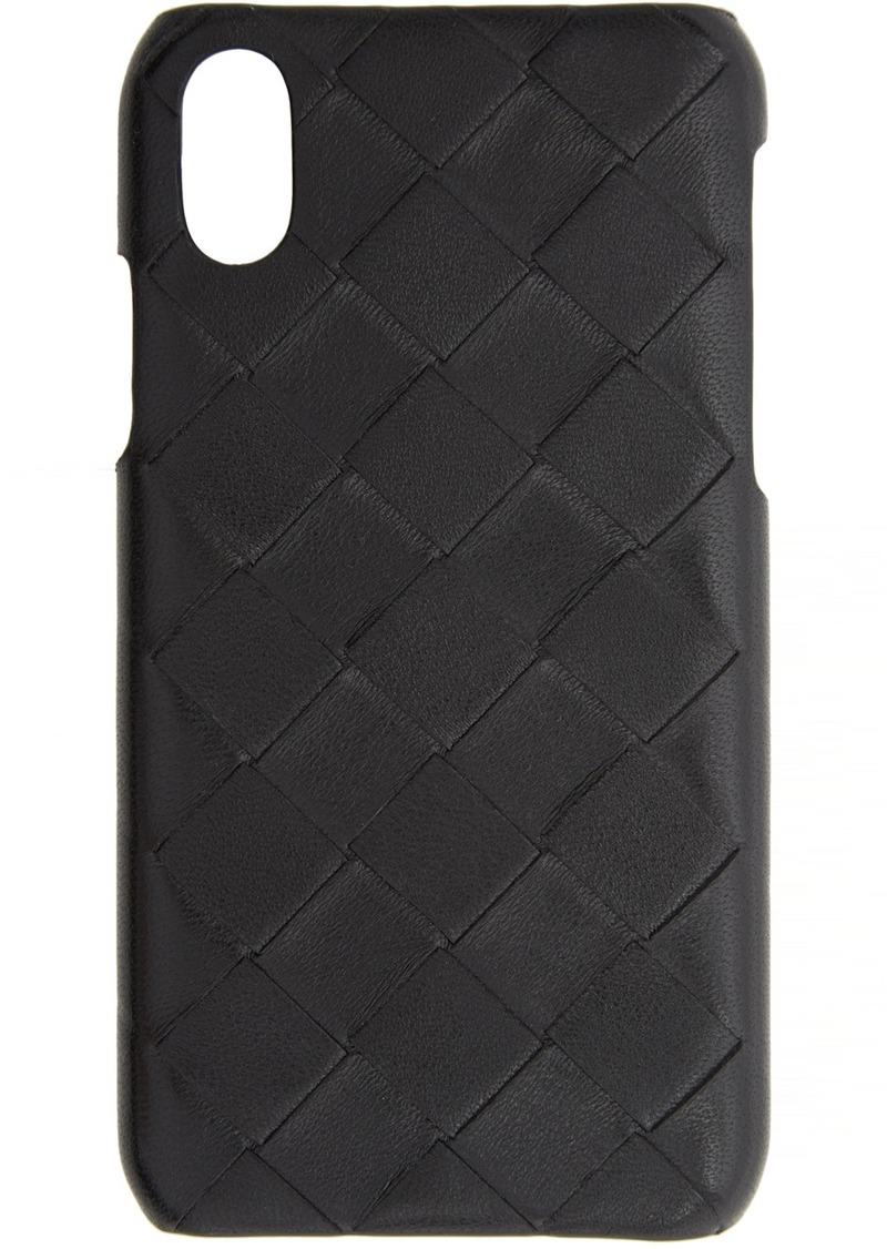 Bottega Veneta Black Intrecciato iPhone XS Case