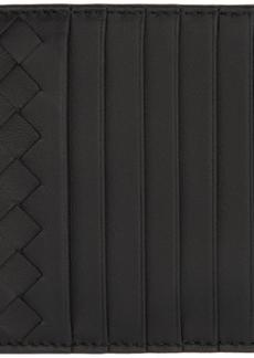 Bottega Veneta Black Intrecciato Multi Card Holder