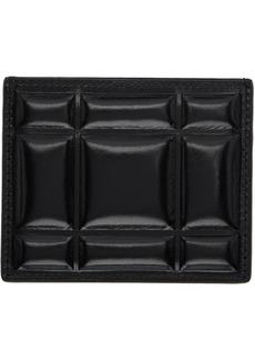 Bottega Veneta Black Padded Paper Card Case