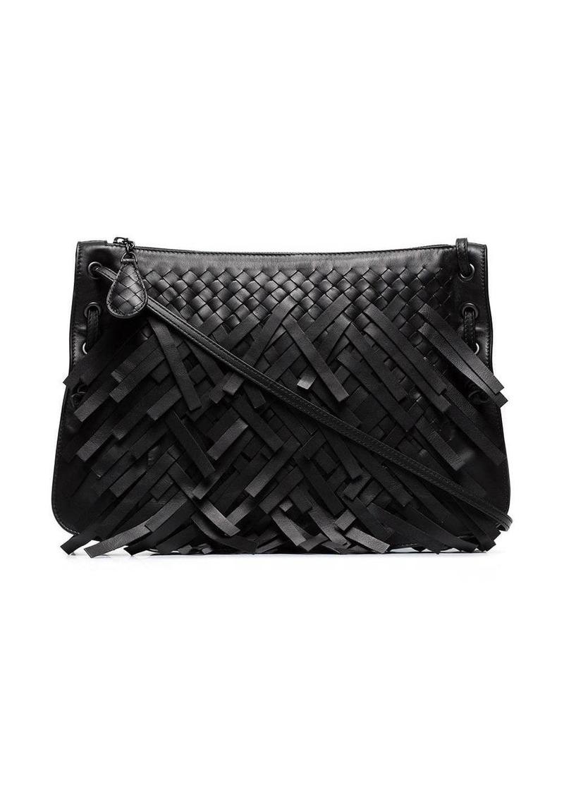 Bottega Veneta Black Palio Leather Shoulder Bag