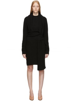 Bottega Veneta Black Twin Scarf Knit Dress
