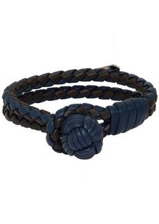 Bottega Veneta Blue & Black Intrecciato Double Bracelet