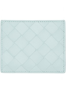 Bottega Veneta Blue Intrecciato Spazzolato Card Holder