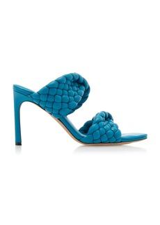 Bottega Veneta - Women's Curve Sandals - Blue/neutral - Moda Operandi
