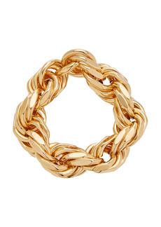 Bottega Veneta - Women's Gold-Plated Silver Woven Rope Bracelet - Gold - Moda Operandi