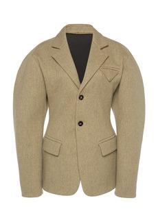 Bottega Veneta - Women's Puffed-Sleeve Wool Blazer - Neutral - Moda Operandi