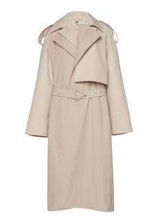 Bottega Veneta - Women's Removable Sleeve Crepe Trench Coat - Neutral - Moda Operandi