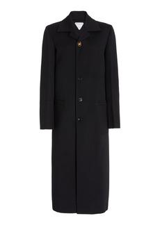 Bottega Veneta - Women's Single-Breasted Wool-Blend Coat - Black - Moda Operandi