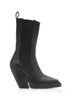 Bottega Veneta - Women's The Lean Leather Boots - Black - Moda Operandi