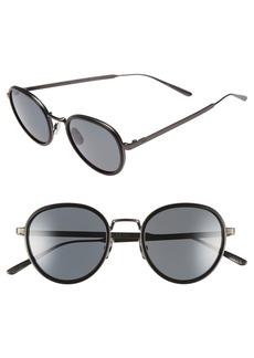 Bottega Veneta 49mm Round Sunglasses