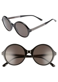 Bottega Veneta 52mm Round Sunglasses