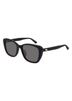 Bottega Veneta 55mm Gradient Cat Eye Sunglasses