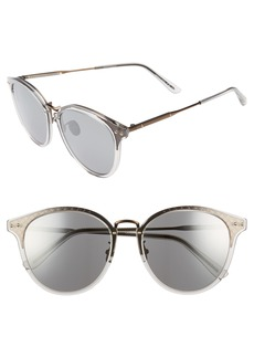 Bottega Veneta 56mm Round Sunglasses