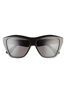 Bottega Veneta 58mm Cat Eye Sunglasses