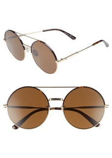 Bottega Veneta 58mm Round Aviator Sunglasses