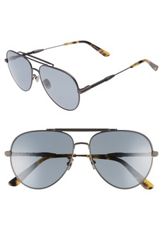 Bottega Veneta 59m Polarized Aviator Sunglasses