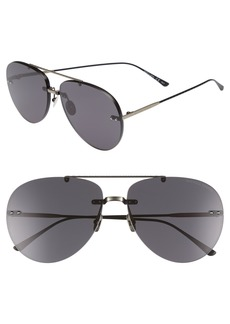 Bottega Veneta 63mm Aviator Sunglasses