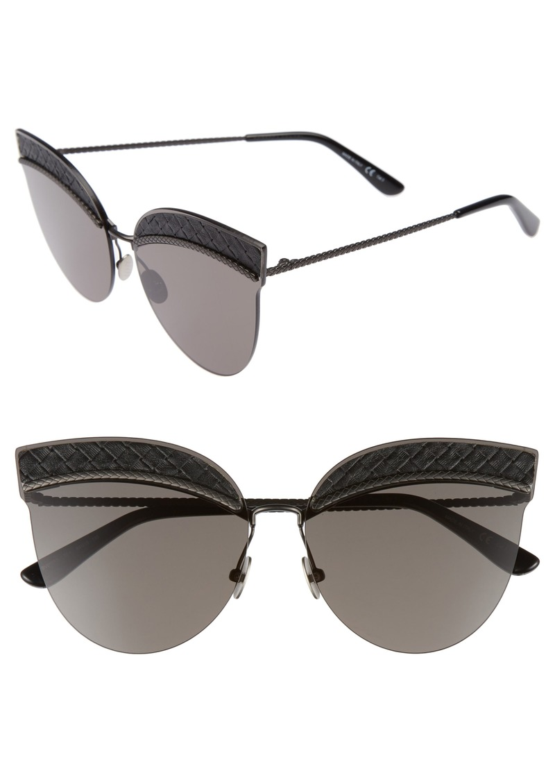ccdedd5ec8 Bottega Veneta Bottega Veneta 64mm Semi-Rimless Cat Eye Sunglasses ...