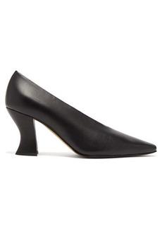 Bottega Veneta Almond curved-heel leather pumps