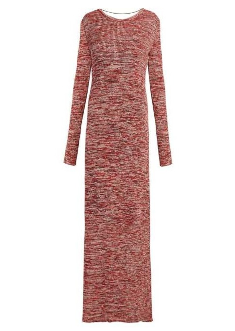 Bottega Veneta Backless ribbed-knit cotton dress