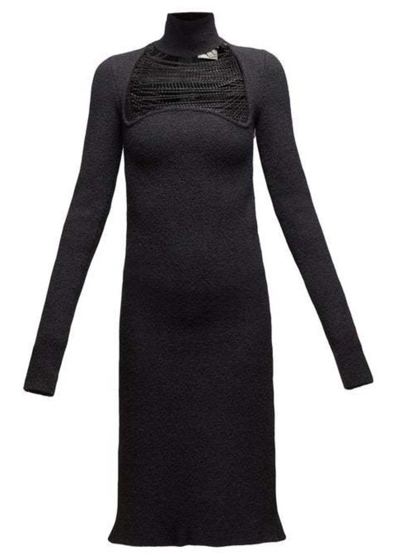 Bottega Veneta Beaded silk blend-sablé dress