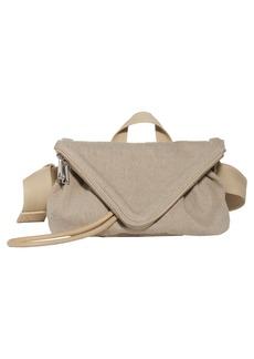 Bottega Veneta Beak Triangle Flap Canvas Belt Bag