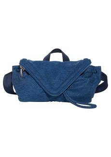 Bottega Veneta Beak Triangle Flap Denim Belt Bag