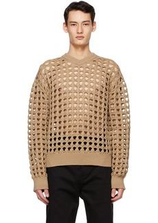 Bottega Veneta Beige Wool Mesh Sweater