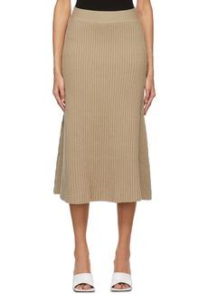 Bottega Veneta Beige Wool Rib Skirt