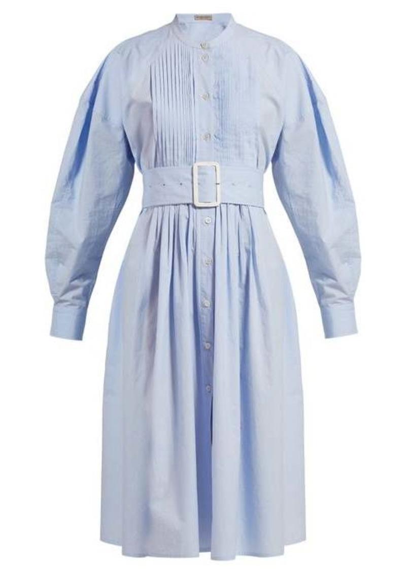 Bottega Veneta Belted cotton-poplin shirtdress